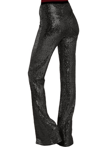 Image of High Waist Sequin Bell-bottom Pants (LC77143-2-2)