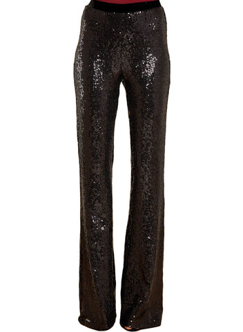 Image of High Waist Sequin Bell-bottom Pants (LC77143-2-1)