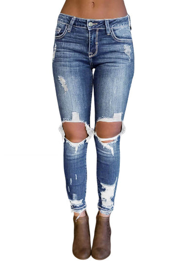Destroyed Skinny Jeans (LC786024-4-1)