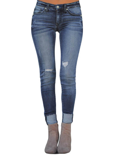 Ripped Skinny Stretch Jeans