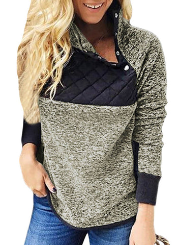 Image of Fleece Asymmetrical Snap Pullover