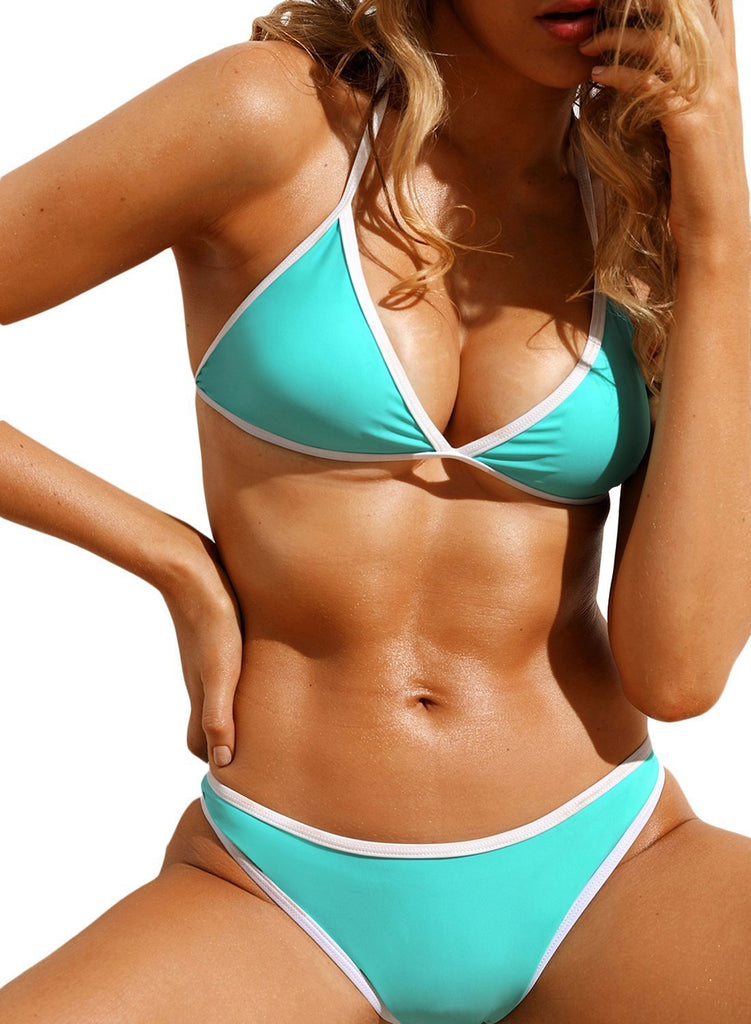 Triangular Halter Bikini 2pcs Swimsuit