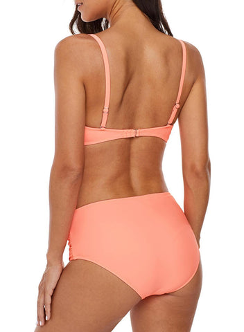 Image of Coverage Molded Cup Halter High Waist Bikini (LC410578-2)