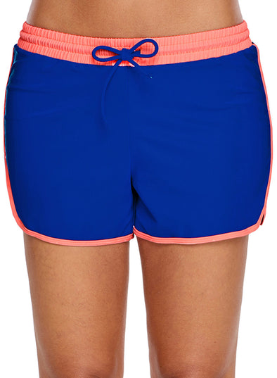 Coral Trim Cobalt Blue Swim Shorts (LC410838-4-1)