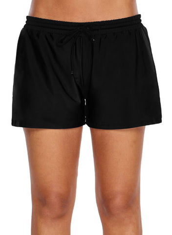 Elastic Drawstring Swim Shorts (LC410833-2-1)