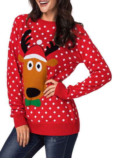 Cartoon Snow Christmas Sweater (LC27908-103-1)