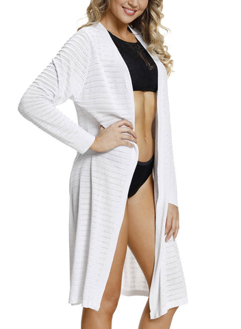 Image of Lightweight Knit Long Open Cardigan