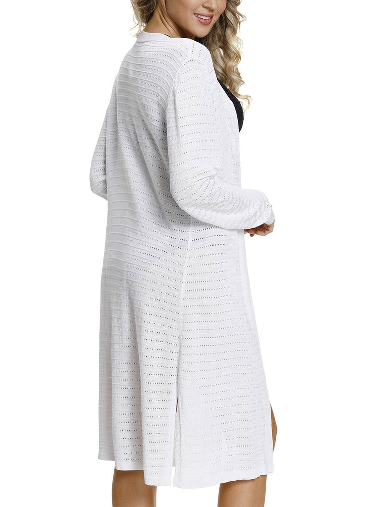 Lightweight Knit Long Open Cardigan