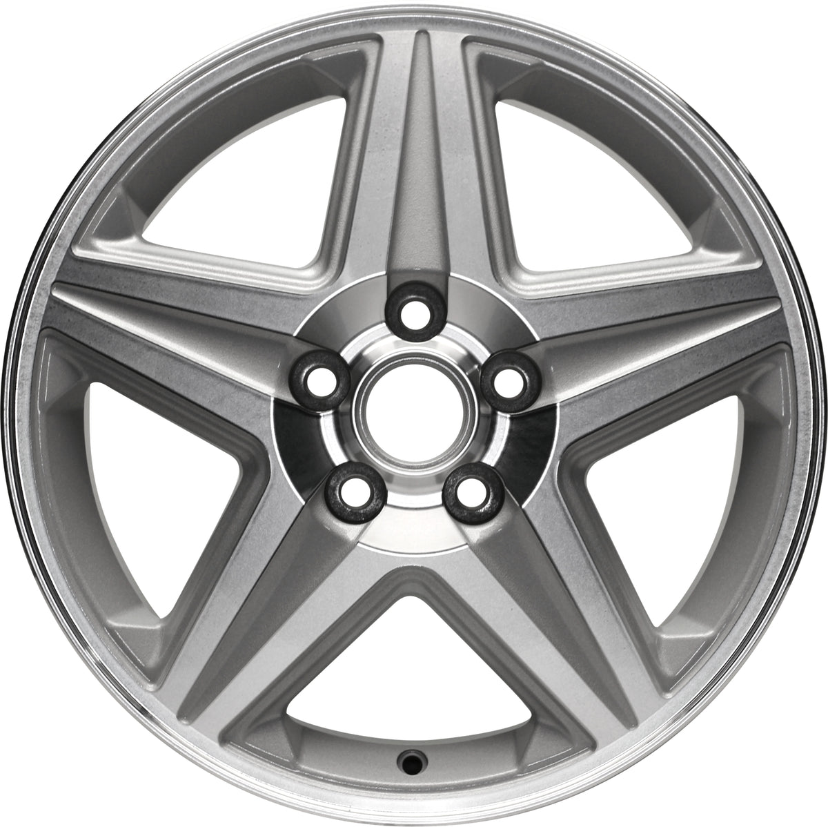 New 17 X 6.5 Silver Machined Wheel Rim For 2004-2005