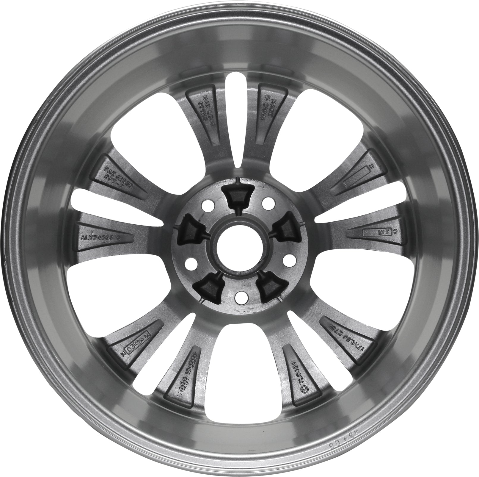 Exact OEM Replacement Road Ready Car Wheel for 2008-2020 Kia Soul 16 inch 5 Lug Steel Rim Fits R16 Tire
