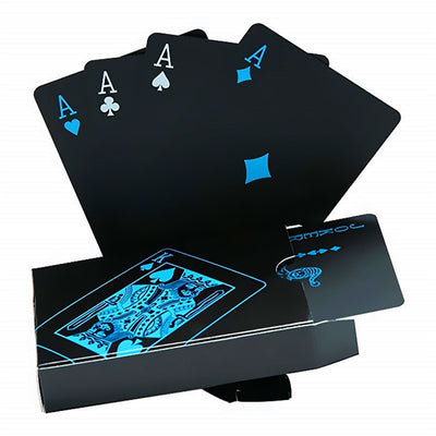 Creative Black Water-resistant PVC Poker Playing Cards Table Game Set