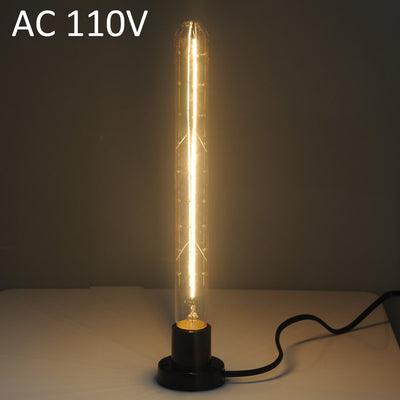 T300 40W E27 600Lm Tungsten Filament Tube Light Decorative Edison Bulb ( 2300 - 2700K 110V )