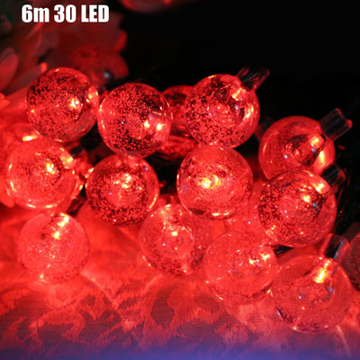 VCT - SIC055 Christmas Tree Decors 6m 30 LED Solar String Light Bubble Shape Lamp Xmas Tree Ornament