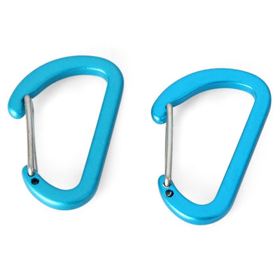 NatureHike 4cm D-shape Flat 2pcs Carabiner Stainless Steel Made