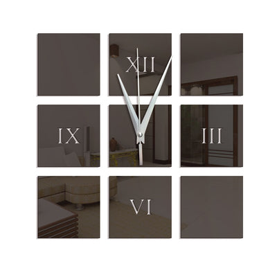 Fashion DIY Acrylic Mirror Wall Stickers Wall Clock Stickers