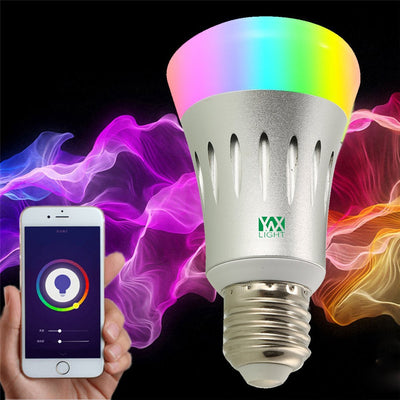 Ywxlight CC - 03 E27 Wi-Fi Multicolored Led Bulbs Dimmable Smartphone Controlled Ac 85 - 265V