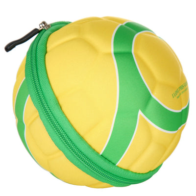 18L Unisex Soccer Shape Folding Duffel Bag for Outdoor Sports