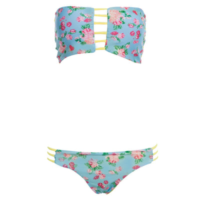 Women Sexy Digital Printing Padding Bikini Set Swimwear