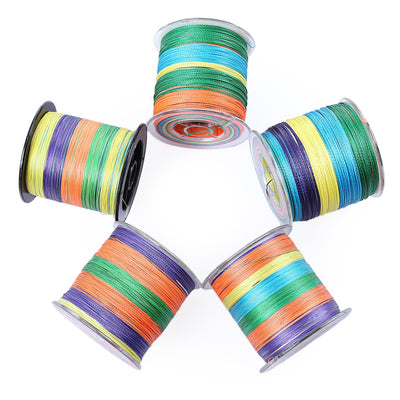PROBEROS 500M Durable Colorful PE 4 Strands Multifilament Braided Fishing Line Angling Accessory