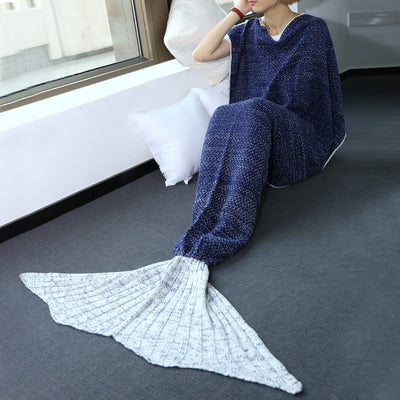 High Quality Knitted Warmth Comfortable Mermaid Tail Blanket