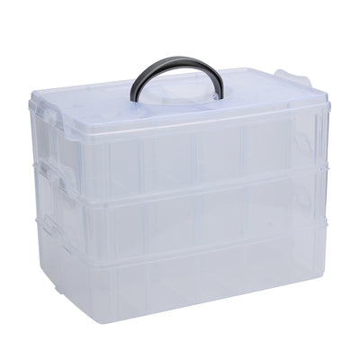 Big Sized Three Layers Removable Plastic Jewelry Bead Cosmetics Storage Container