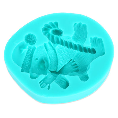 Christmas Polar Bear Silicone Fondant Cake Chocolate Mold Baking Tool