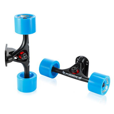 PUENTE 2pcs / Set Skateboard Truck with Wheel Riser Pad