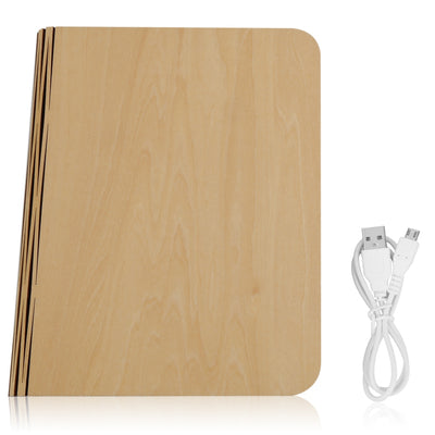 QL01 Colorful LED Wooden Folding Book Shape Light