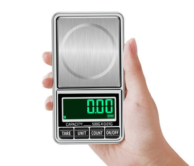Mini Pocket Jewelry Weight Scale 100g 500g 1000g/0.1g  200g 300g 500g/0.01g Digital Balance LCD Display Jewelry Scale with USB Port