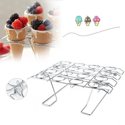 16 Holes Cupcake Cone Baking Rack DIY Cooling Rack Ice Cream Holder