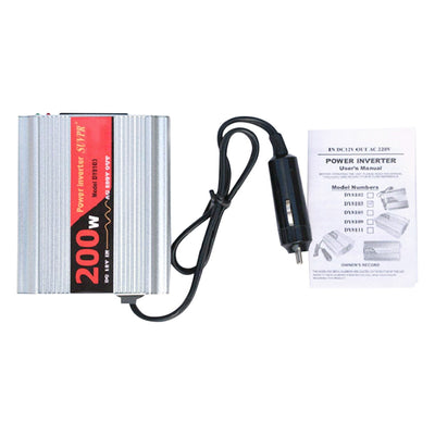 SUVPR DY8103 200W DC 12V to AC 220V Car Power Inverter for Laptop / Refrigerator / Air Cleaner
