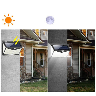 Outdoor Human Motion Sensing Lamp Solar-powered Wall Light