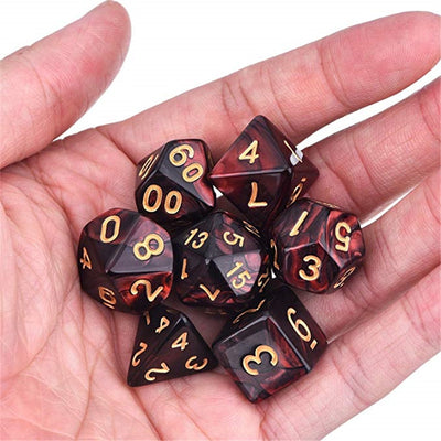 Creative Polyhedral Multi-faceted Dice Board Game 7PCS