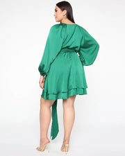 Hard To Love Satin Mini Dress - Girlsintrendy, Girls In Trendy