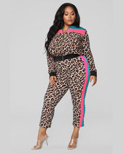 You Are Not Alone Plus Size Pants Set - Girlsintrendy, Girls In Trendy