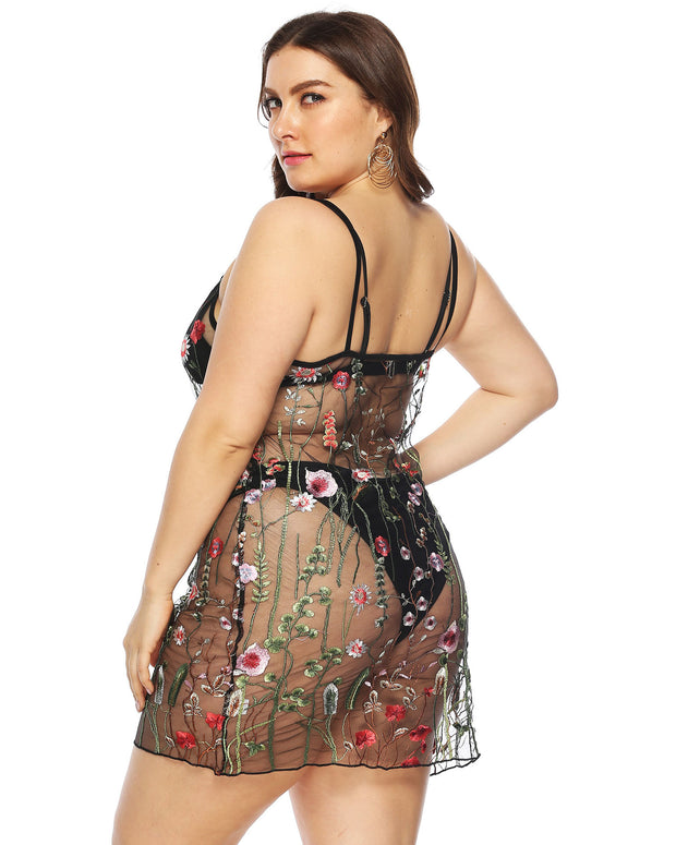 Lace Sarong Plus Size Cover up - Girlsintrendy, Girls In Trendy
