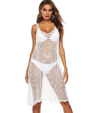 Sexy V Neck Hollow-out Cover up - Girlsintrendy, Girls In Trendy
