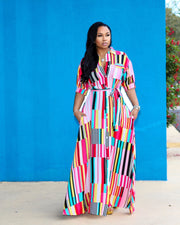 Catch The Rainbow Maxi Dress - Girlsintrendy, Girls In Trendy