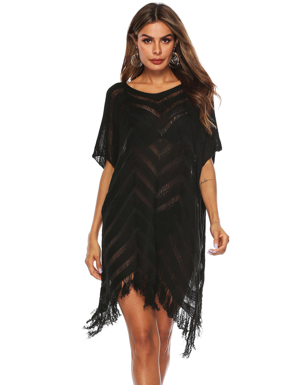 Tassel Hollow Out Cover up - Girlsintrendy, Girls In Trendy