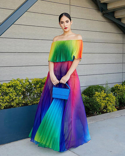 Colorful Sea MAXI DRESS - Girlsintrendy, Girls In Trendy