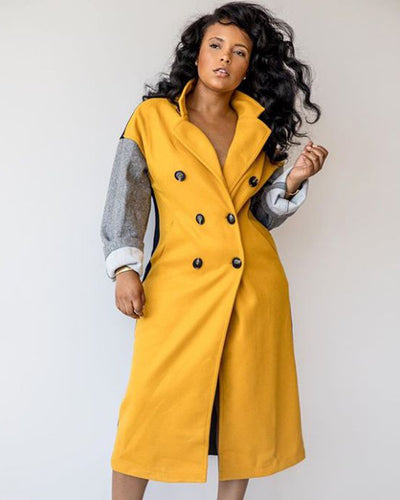 On the Block Multi Color Coat - Girlsintrendy, Girls In Trendy