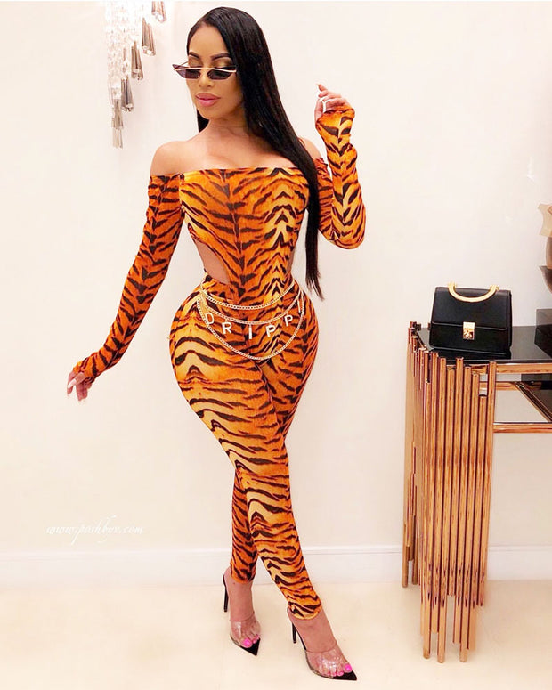 Tiger Stripes Jumpsuits - Girlsintrendy, Girls In Trendy