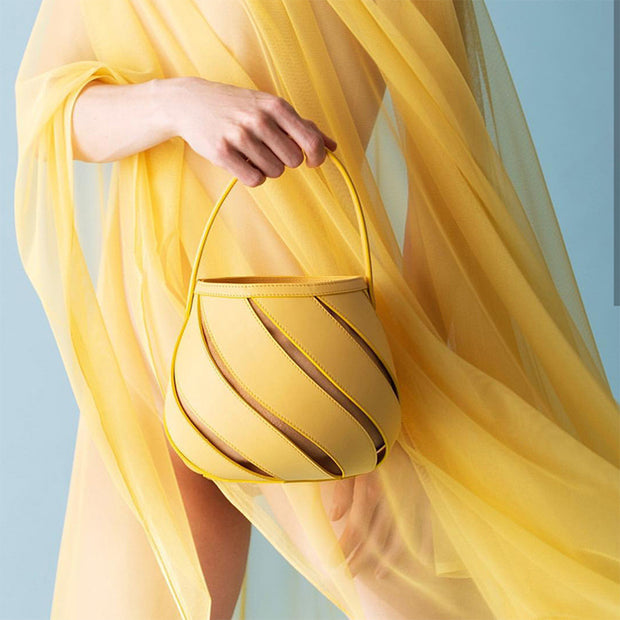 Lemon Spiral Geometry Bag - Girlsintrendy, Girls In Trendy