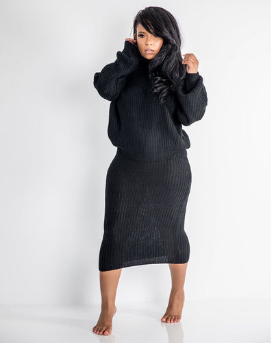 Knitting It Up Skirt Set - Girlsintrendy, Girls In Trendy