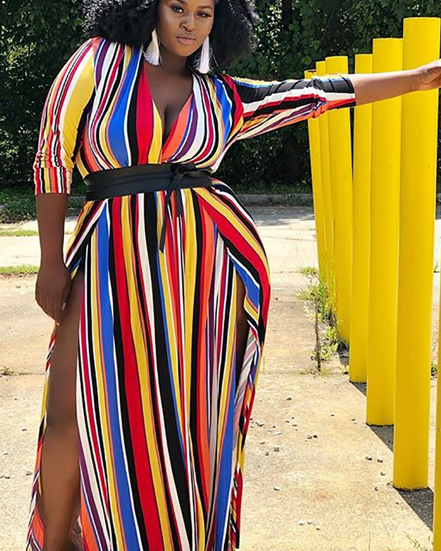 Letting You Know Plus Size Maxi Dress - Girlsintrendy, Girls In Trendy