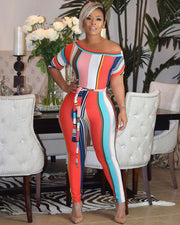 What A World Rainbow Jumpsuit - Girlsintrendy, Girls In Trendy