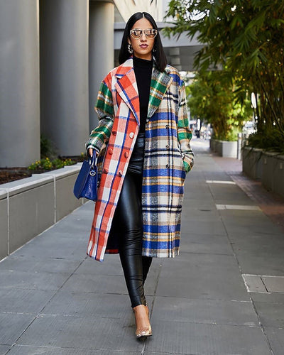 PLAID THIS WAY COAT - Girlsintrendy, Girls In Trendy