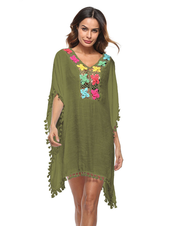 Hollow Out Tassel Cover Up - Girlsintrendy, Girls In Trendy