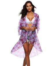 Floral Print Chiffon Cover up - Girlsintrendy, Girls In Trendy