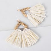 Rattan Woven Earrings - Girlsintrendy, Girls In Trendy